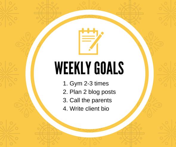 weekly goals 1